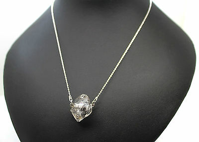 Collar Gran Diamante Herkimer 100% Natural. Plata 1ª Ley .925
