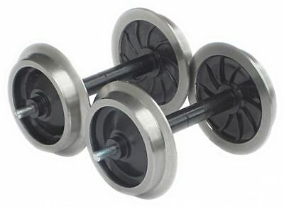 Zenner 2 Disc wheel sets with Stainless steel tyres for LGB Personw. or Gueterw