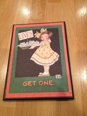 Mary Engelbreit LIVES GET ONE Colorplak Wall Hanging Plaque