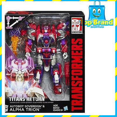 Transformers Titans Return Voyager Class Autobot Alpha Trion & Sovereign