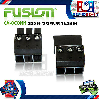 Fusion Plug Quick Release Amplifier Amp & Sub Box Subwoofer Connecter Boot Trunk