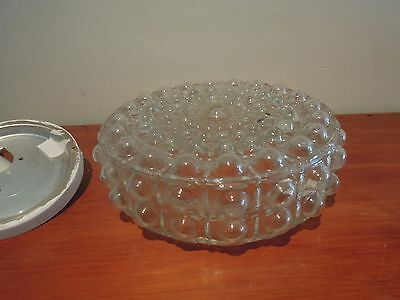 Retro Large Round Glass Bubbles Ceiling Light Fixtures Great Condition