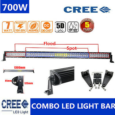 "CREE 560W 5D 42""INCH LED Spot &Flood Combo Work Light Bar Offroad Driving Lamp"