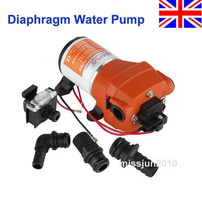 New 12V 35PSI Automatic Diaphragm Water Pump For RV Caravan Marine Boat Trailers