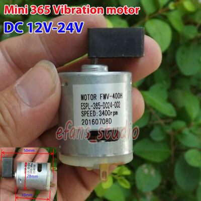 DC 12V-24V Micro 365 vibration vibrating motor Super chunk shake head 3400RPM