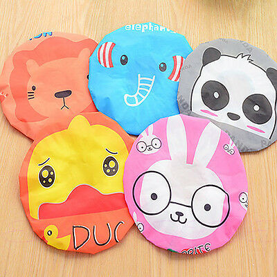 Reusable Kids Women Girls Hair Wrap Waterproof Shower Bath Shower Head Cap Hat