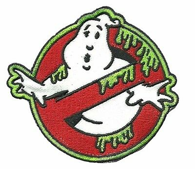 "Ghostbusters Movie NO-GHOSTS SLIME LOGO 2 3/4"" Wide Embroidered Costume PATCH"