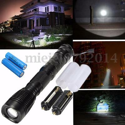 Elfeland 8000Lm T6 LED Zoomable Flashlight Torch Light Lamp +2x18650 battery