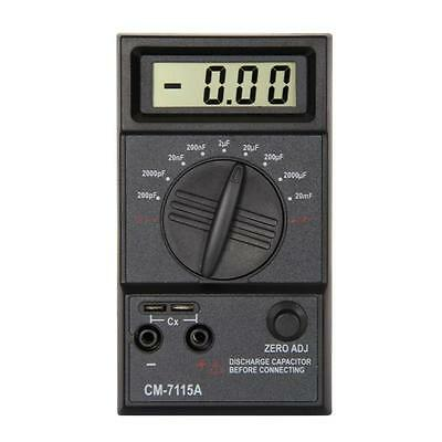 Digital LCD Screen 20mF-200pF Capacitor Capacitance Meter with Test Leads