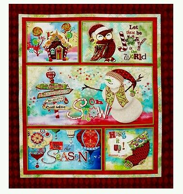 """""""oh Snow"""" Digital Quilt Panel * New * In Stock * Free Post *"""