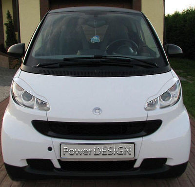 Eyebrows for SMART Fortwo 451 2007-2011  headlight eyelids lids ABS Plastic