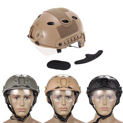 Outdoor Tactical Military Airsoft Fast Helmet Paintball With Protective Goggle