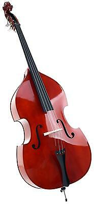 Upright Bass Double Bass 4 Steel String Instrument 3/4 Size Set Bow Gigbag