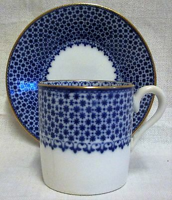 Vintage Copeland Spode Blue & White Coffee Can/Cup & Saucer R4391