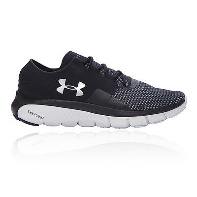 Under Armour Speedform Fortis 2 Mens Black Cushioned Running Shoes Trainers
