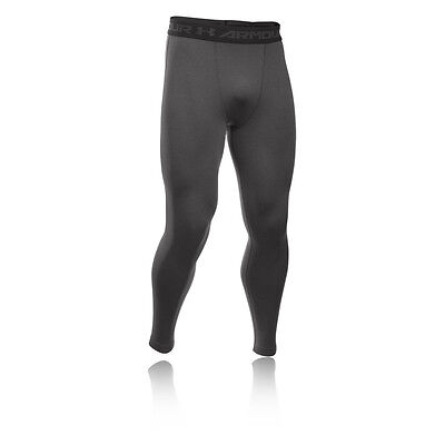 Under Armour HeatGear Mens Grey Compression Running Gym Tights Bottoms Pants