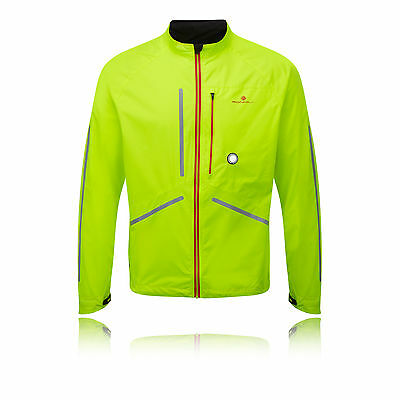 Ronhill Vizion Photon Mens Yellow  Windproof Long Sleeve Running Jacket Top