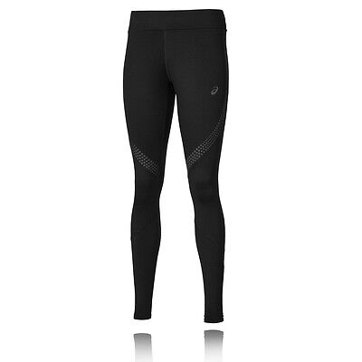 Asics Lite-Show Winter Womens Black Running Sports Long Tights Bottoms Pants