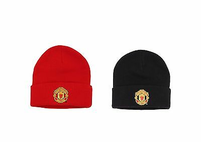 Official Manchester United Adults Beanie. Man U Football Merchandise. Woolen Hat