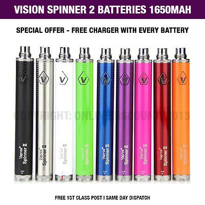 New Vision Spinner 2 1650mAh Variable Voltage Battery E Cig Vaporizer AUTHENTIC!