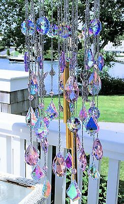 KIRKS FOLLY Go Ask Alice Pastel Crystal Wind Chime  WOW