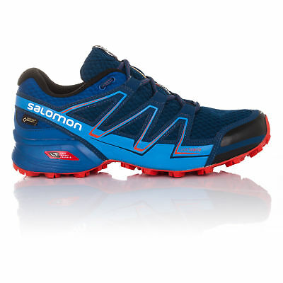 Salomon Speedcross Vario Mens Blue Gore Tex Waterproof Running Sports Shoes