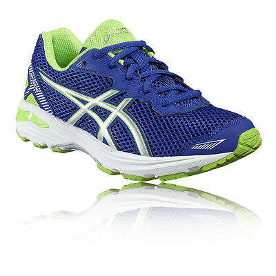 Asics GT-1000 5 GS Junior Green Blue Support Running Road Shoes Trainers J13