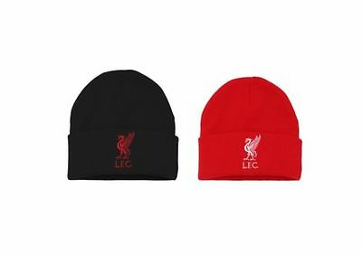 Official Liverpool FC Merchandise. Kids/Childs Beanie. Red Winter Hat - OF207