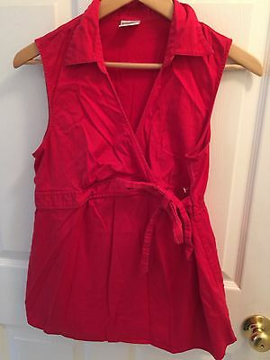 Used Motherhood Maternity L Large Shirt Red