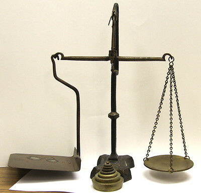 Antique Canadian Post Scale with Weights