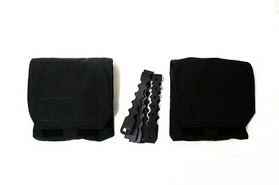 AR500 Armor Side Plate MOLLE Pouch PAIR Black w/ Malice Clips New