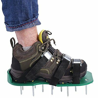 Lawn Aerator Sandals / Aerating Spikes Heavy Duty Spiked Shoes 3 Straps with ...