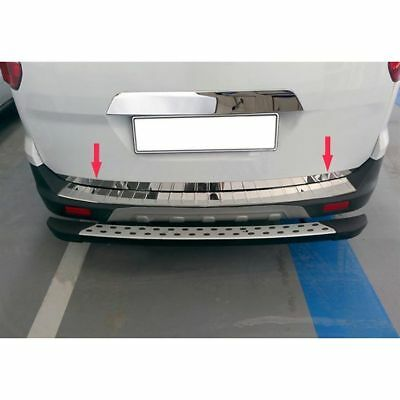VW POLO 6R 2009UP Chrome Rear Trunk Tailgate Lid Molding Trim S.Steel