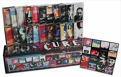 THE CURE lot of 22 used cassettes in homemade box set + complete magnet disc set