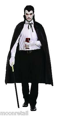 Halloween Black Vampire Cape Dracula Devil Cloak Fancy Dress Costume Full Length