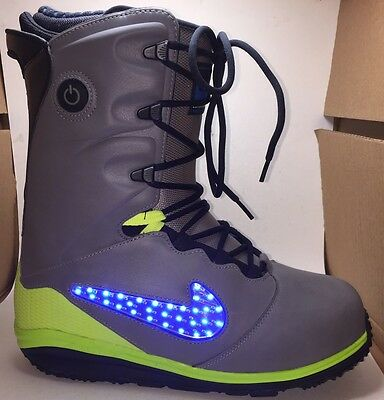 check out 14f3c ddf48 Mens Nike Lunarendor Qs Led Snowboard Boots Size 10 Gray Blue Yellow Worn  Once