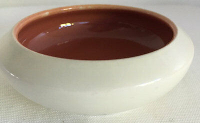 Poole England Twintone Butter Dish Condiments Dish #299 Red Indian Magnolia