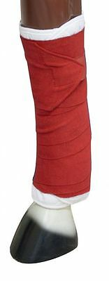 Showman Set of Standing Leg Wraps w/Velcro Red New Horse Tack