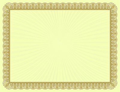 "Great Papers! Metallic Gold Value Certificate, 8.5"" x 11"", 100 Count (961035)"