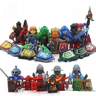 8 Sets Knight Nick Knights Minifigures Building Toy Castle Warrior Block Toys CE