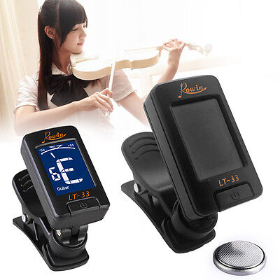 Guitar Bass Violin Ukulele Gift Digital LCD Clip on Electronic Chromatic Tuner A
