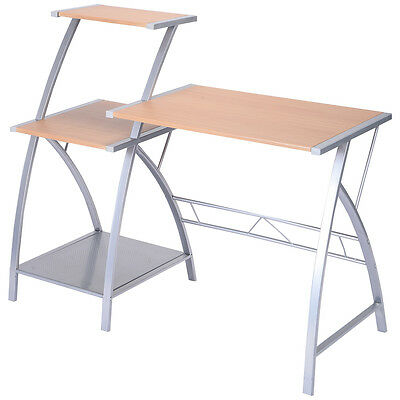 Computer Desk Laptop Writing Study Table W/ 3-Tier Shelf Home Office Furniture