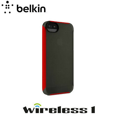 Belkin iPhone 5 Shield Crush Cover TRANSLUCENT Black Red F8W365WWC02-APL