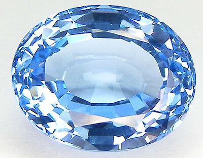 30.48Ct. Beautiful Colour Simulated Baby Swiss Blue Topaz Lab Gem