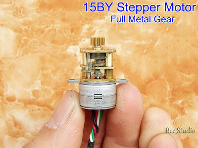DC5V 12V 2-Phase 4-Wire Mini Gear Stepper Motor Full Metal Gearbox 15MM Reducer