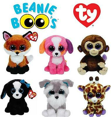 NEW TY Beanie Boos 15cm Plush Teddies, Collectible Soft Toys Brand New With Tags