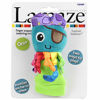 Lamaze Captain Calamari Teething Mitt Finger Puppet newborn - Genuine