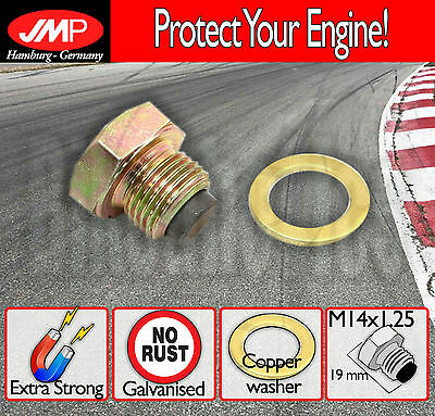 Magnetic Oil Drain Plug / Sump - M14x1.25+washer- Suzuki GS 500 E - 1993
