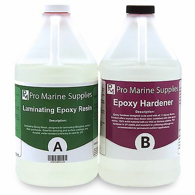Clear Epoxy Resin Boat Building Marine Grade Laminating Fiberglass Wood 1 Gallon