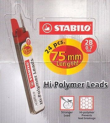 288x Stabilo Mechanical Pencil Refills High-Polymer Lead 0.7mm 2B (12 tubes)
